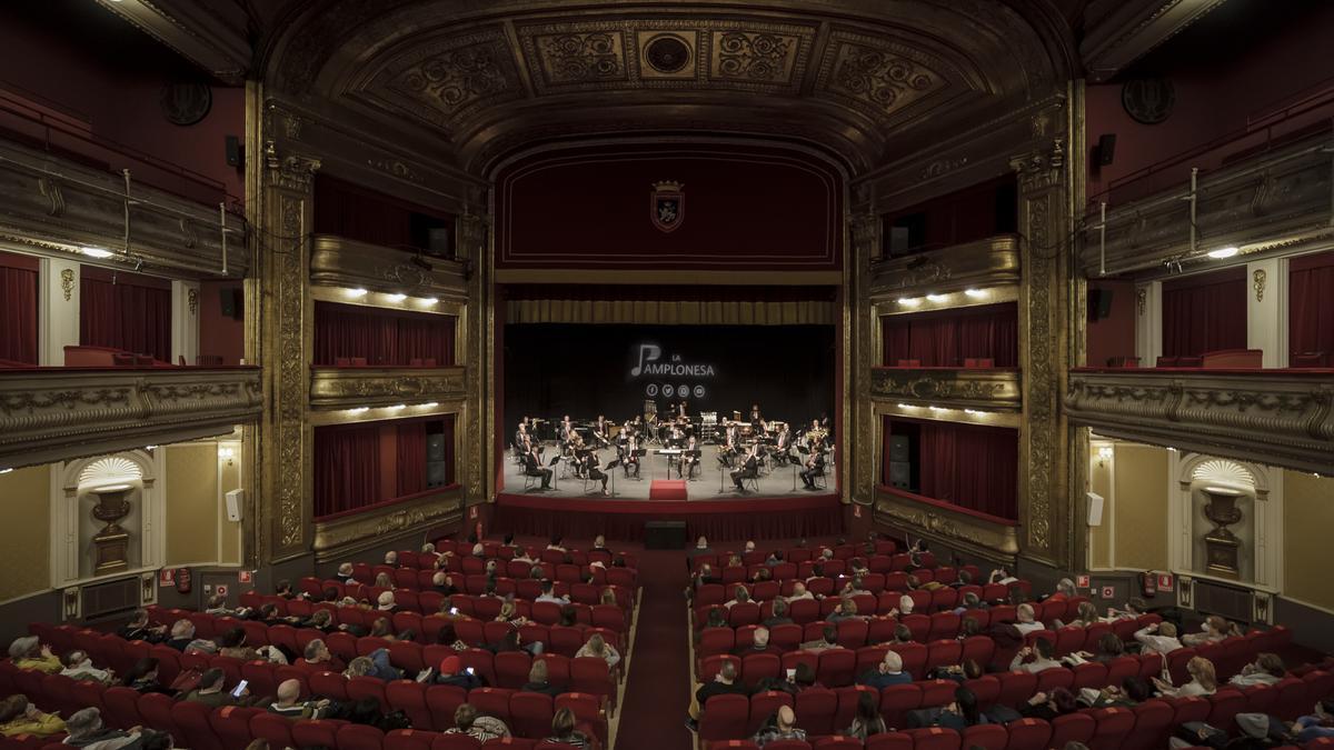 Archivo - Concierto de La Pamplonesa en el Teatro Gayarre