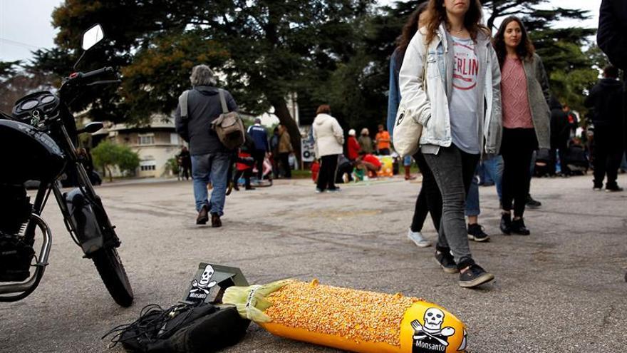 """Uruguayos se manifiestan contra Monsanto y """"agronegocio"""" en evento mundial"""