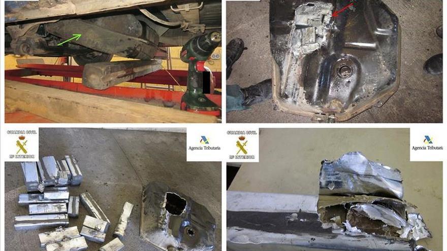 Intervenidos más de 39 kilogramos de hachís en el depósito de un coche en Melilla