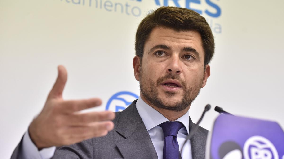 Beltrán Pérez, portavoz del PP, en una imagen de archivo