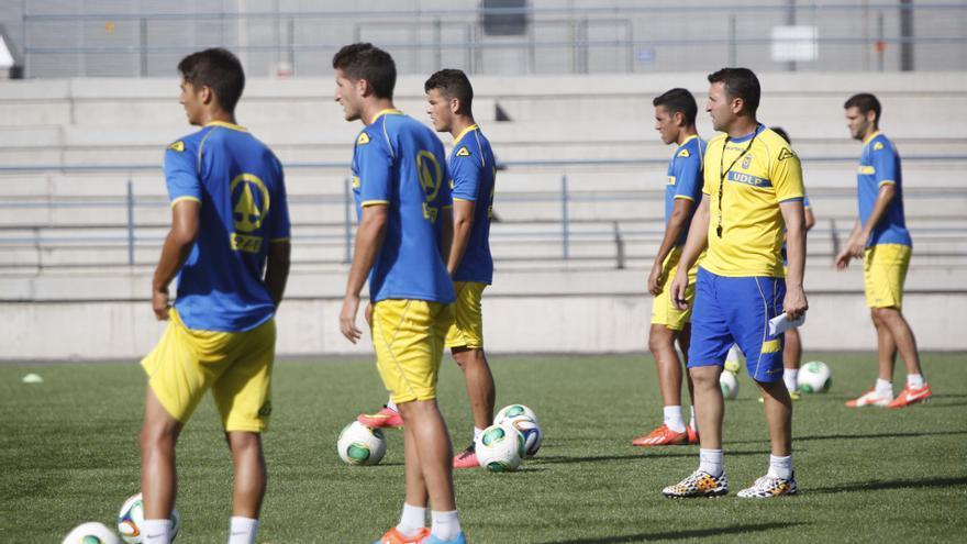 Entrenamiento de la UD Las Palmas. Foto: Carlos Díaz Recio, Udlaspalmas.net.