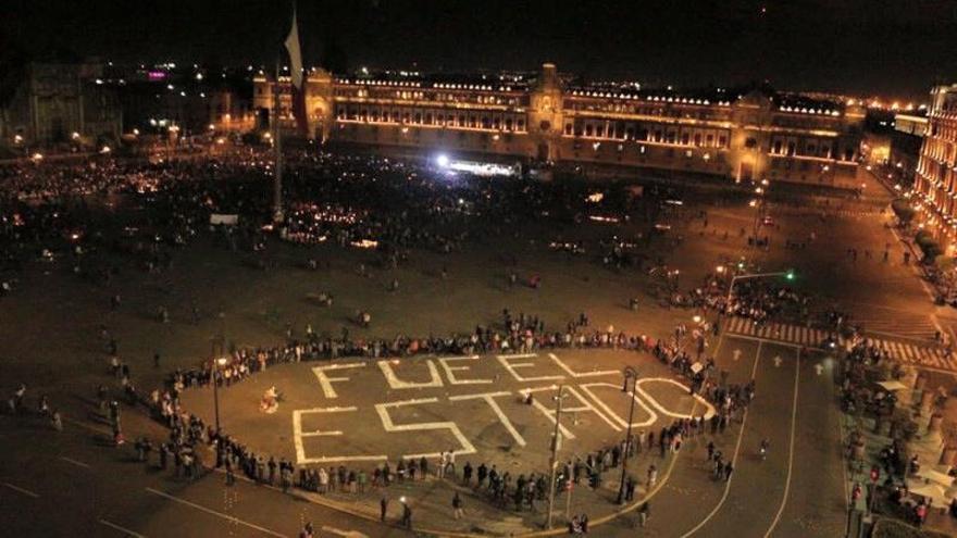 Plaza de la Constitución, conocida como El Zócalo, en Ciudad de México