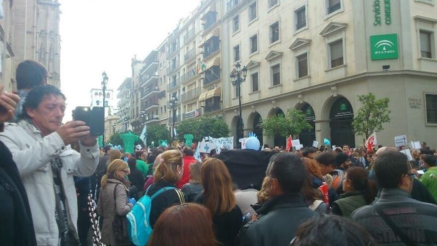 Trabajadores de hospitales Pascual durante sus movilizaciones
