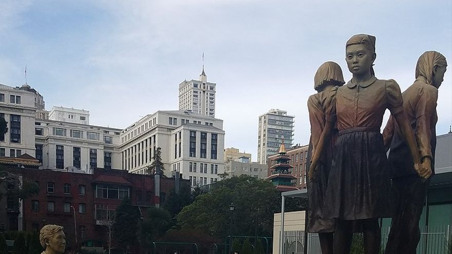 Monumento a las 'mujeres de confort' en San Francisco. Ka-cw2018