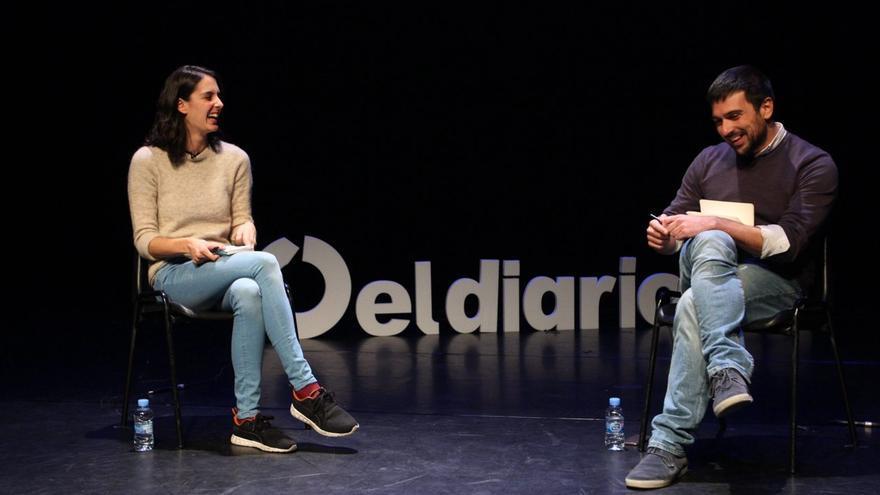 Rita Maestre y Ramón Espinar, durante el debate.