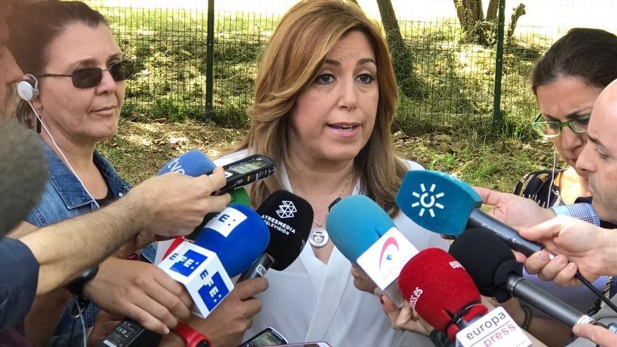 """Susana Díaz dice que en Francia """"hay que sumar para frenar a la ultraderecha"""" porque está en juego """"el proyecto europeo"""""""
