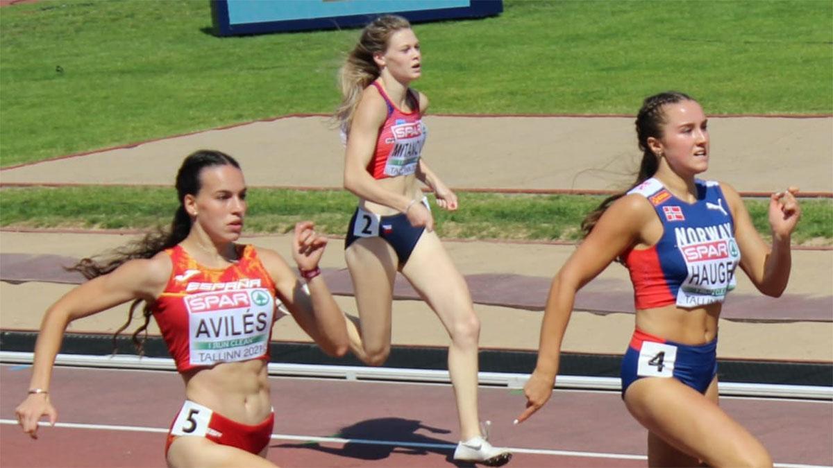 Carmen Avilés en plena carrera.
