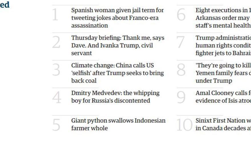 La sentencia a Cassandra, lo más visto en el diario The Guardian