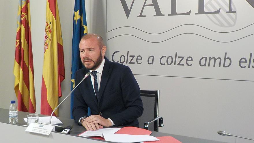 El diputado de Hacienda y el alcalde de Faura, Toni Gaspar