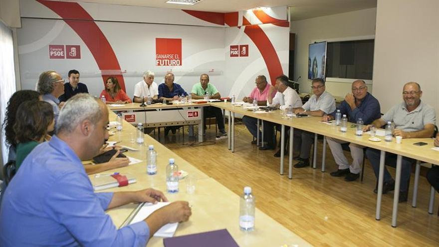 Un momento de la reunión de la Ejecutiva Regional del Partido Socialista Canario. (EFE/QUIQUE CURBELO)