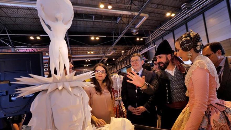 El arte urbano de Okuda cobrará vida en 3D en la falla municipal de Valencia