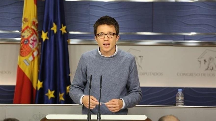 """Unidos Podemos apoyará mañana en el Congreso las propuestas contra la reforma """"antidemocrática"""" del TC del PP"""