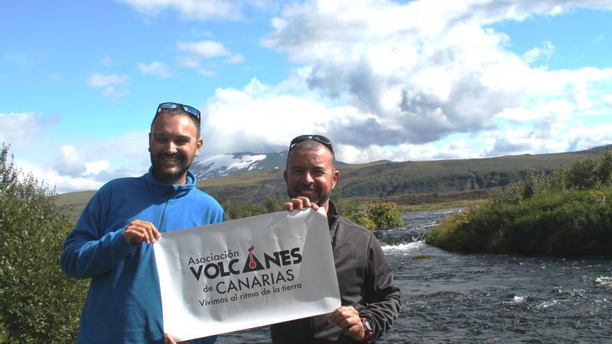 Marcos López y Víctor Melo en el volcán Hekla