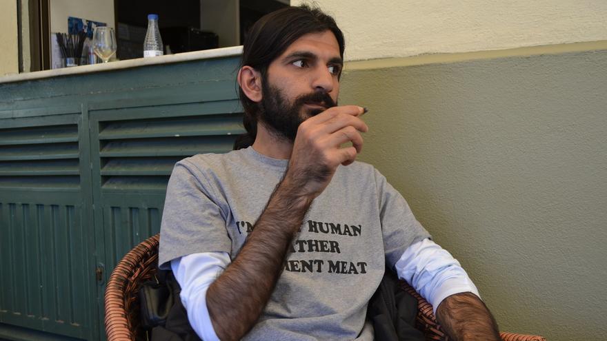 Rahell, en Melilla, durante la entrevista | N.C.