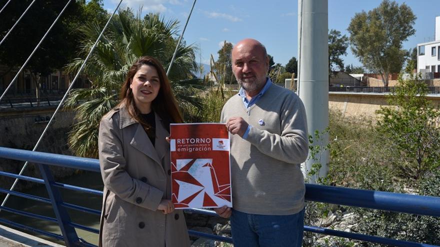 María Martínez, candidata de Unidas Podemos al Parlamento Europeo por Izquierda Unida y José Luis Álvarez-Castellanos, coordinador de IU-Verdes a nivel regional
