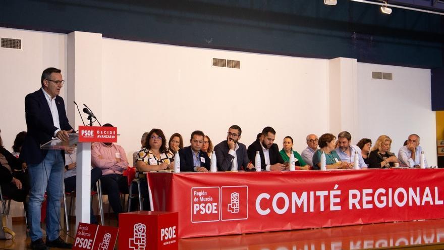 Diego Conesa en el Comité Regional del PSRM