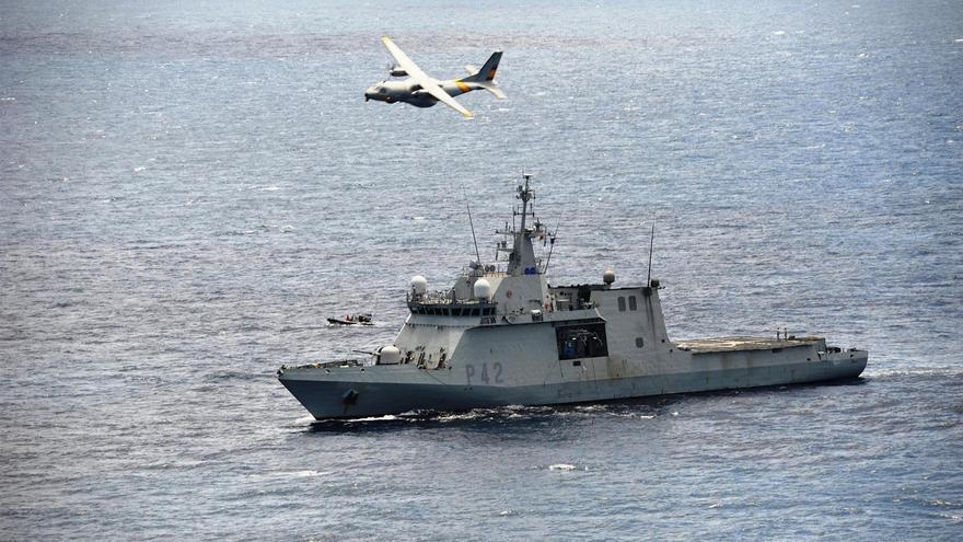 Buque de Acción Marítima (BAM) 'Rayo'. Foto: Ministerio de Defensa.