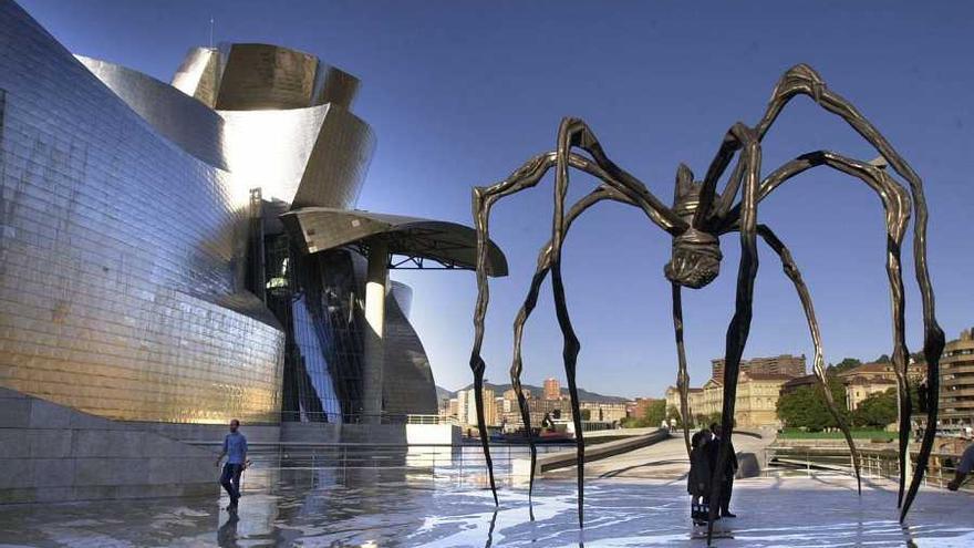 'Maman' de Louise Bourgeois en el Museo Guggenheim de Bilbao