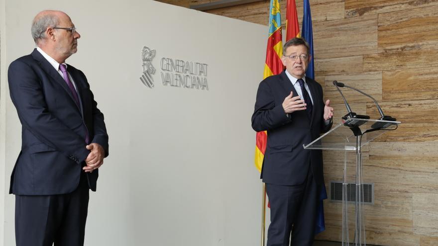El president Ximo Puig junto a Andrés García Reche en Alicante