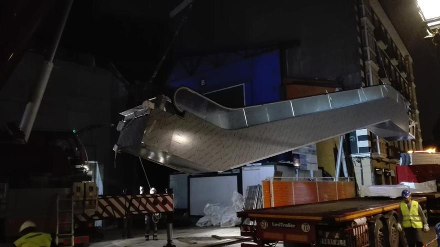 Llegan las primeras escaleras mecánicas a la estación intermodal de Casco Viejo, en Bilbao