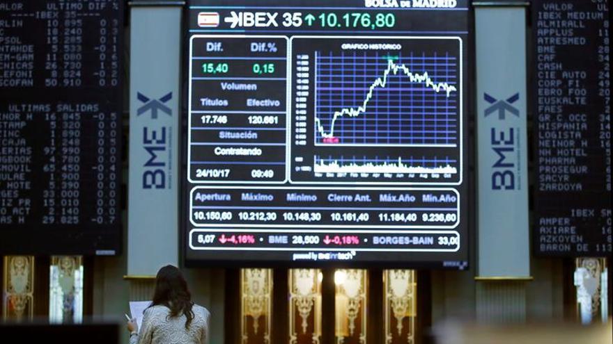 La Bolsa española pierde los 10.200 puntos al caer un 0,09 por ciento en la apertura