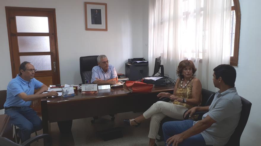 Reunión en el Centro Penitenciario de La Palma.