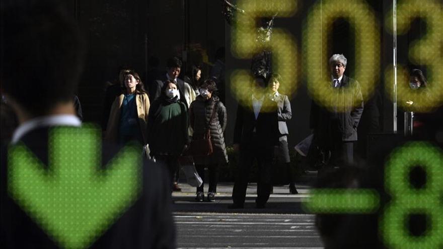 El Nikkei baja un 1,79 por ciento hasta los 18.887,15 puntos