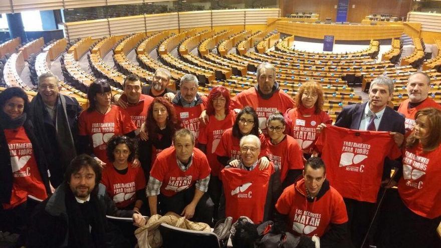Afectados por la hepatitis c en el Parlamento europeo /PLAFHC