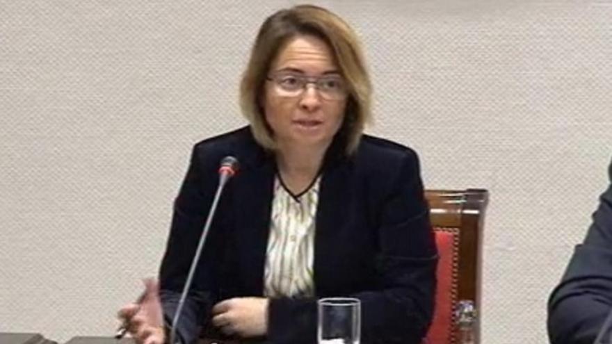 La candidata del PSOE al Consejo Rector, Carmen Zamora