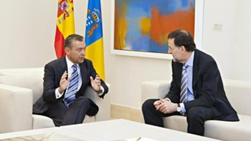 Reunión de este martes entre Rivero y Rajoy. (ACFI PRESS)
