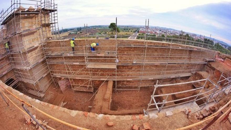 Las obras de de la Alcazaba y Puerta Trinidad aportan nuevos datos del pasado de la ciudad / Twitter @fragoso_fran