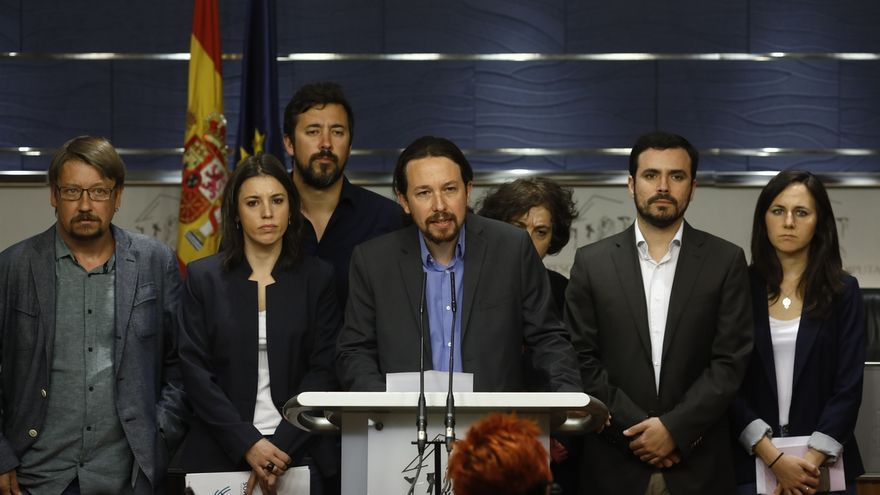Unidos Podemos registra este viernes la moción de censura contra Rajoy, con Iglesias de candidato
