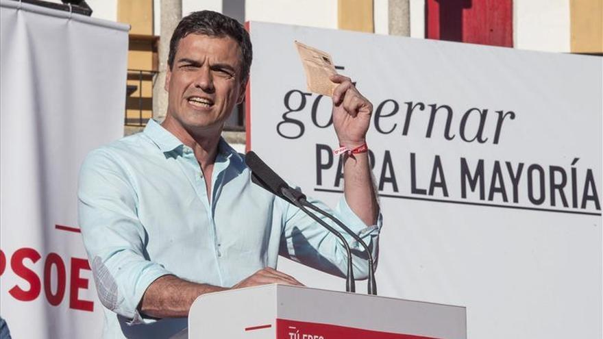 Pedro Sánchez dice que el único partido que puede a ganar al PP es el PSOE