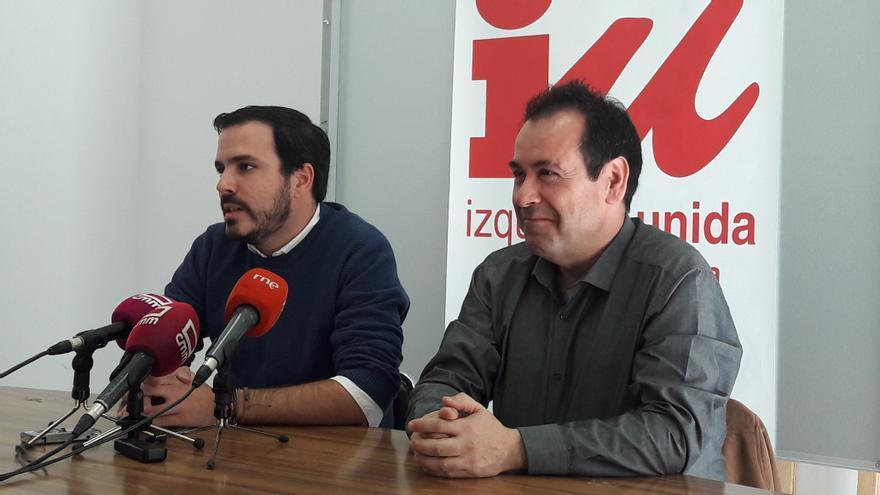 Alberto Garzón y Juan Ramón Crespo