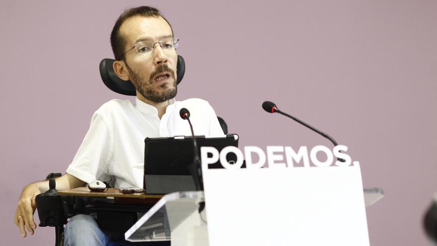 Echenique acusa al PSOE de romper el pacto en las Cortes de Aragón y defiende que la Presidencia sea para Podemos