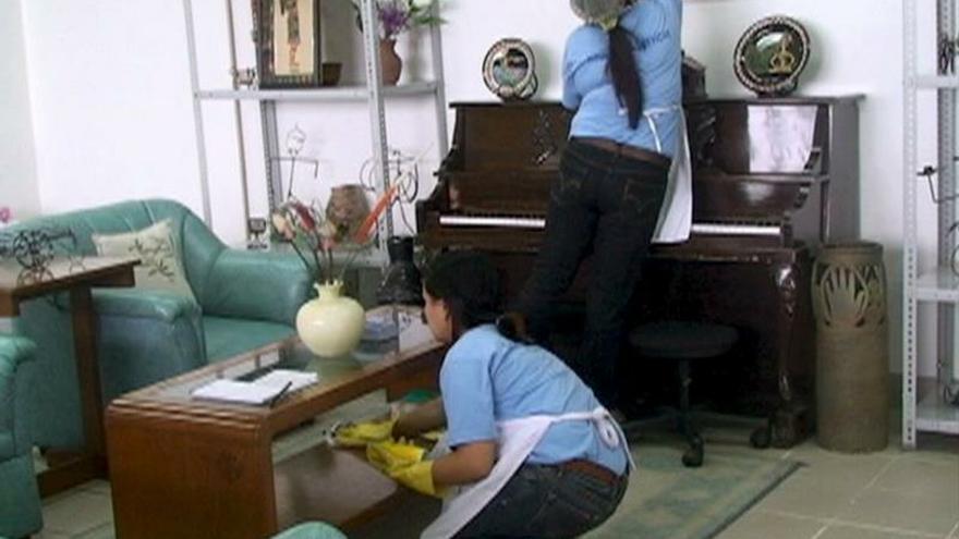 Imagen de archivo de empleadas del hogar.