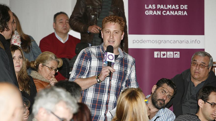 Alejandro Pérez, candidato de Claro que Podemos al Consejo Ciudadano Insular de Gran Canaria. (Foto: Alejandro Ramos).