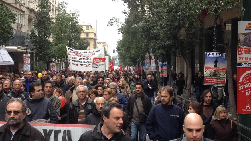 Segunda huelga general en Grecia contra los recortes del Gobierno / FOTO: Hibai Arbide Aza