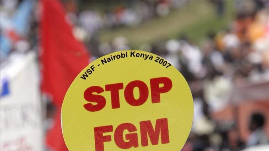 Manifestación contra la MGF en Kenia. Foto: EFE