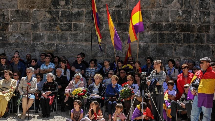 Homenaje en el Fuerte de San Cristóbal (Pamplona) en mayo de 2014 / Foto: Óscar Rodríguez