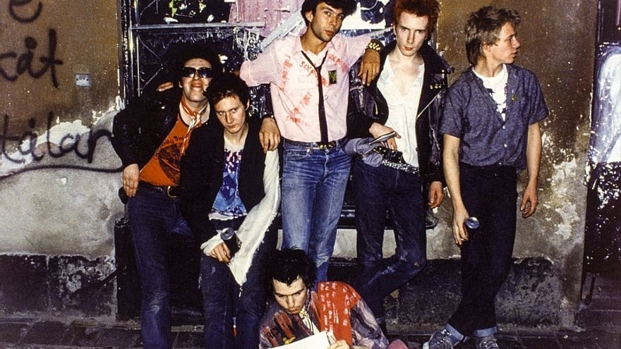 La banda británica Sex Pistols, en 1978.