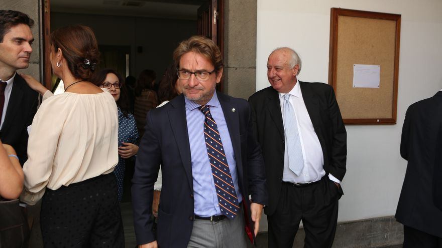 El magistrado Salvador Alba en la apertura del año judicial (Alejandro Ramos)