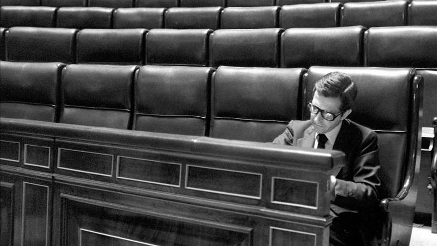 Adolfo Suárez, en el Congreso de los Diputados.