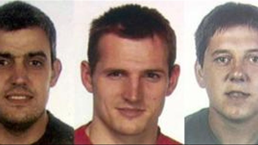 Mattin Sarasola, Igor Portu y Mikel San Sebastián. (EUROPA PRESS)