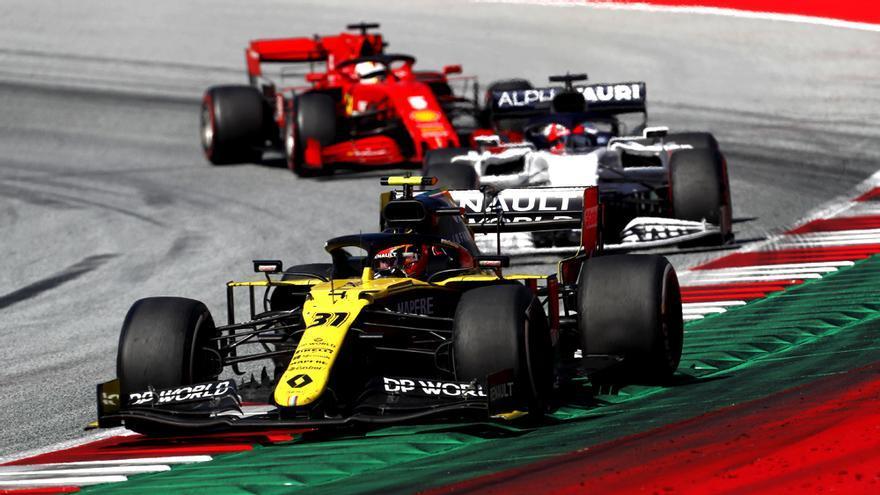Imagen del arranque de la F-1 en el Gran Premio de Austria