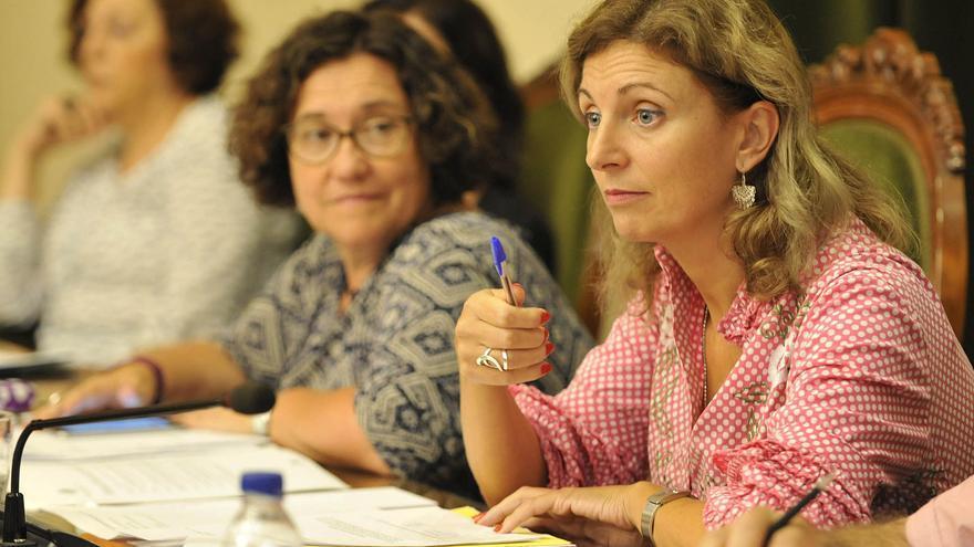 La alcaldesa de Castellón, Amparo Marco, durante un pleno