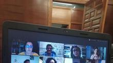 Videoconferencia del equipo de eldiario.es de Castilla-La Mancha