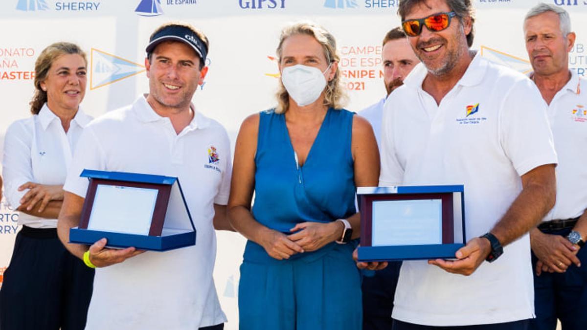 Castillo y León durante el acto de entrega de premios.
