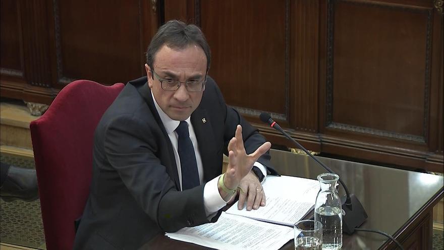 El exconseller de Territori , Josep Rull, durante su declaración en el Tribunal Supremo