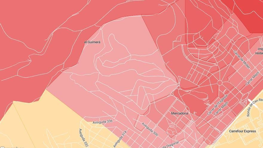 Las zonas más próxima al centro de menores de Castelldefells.